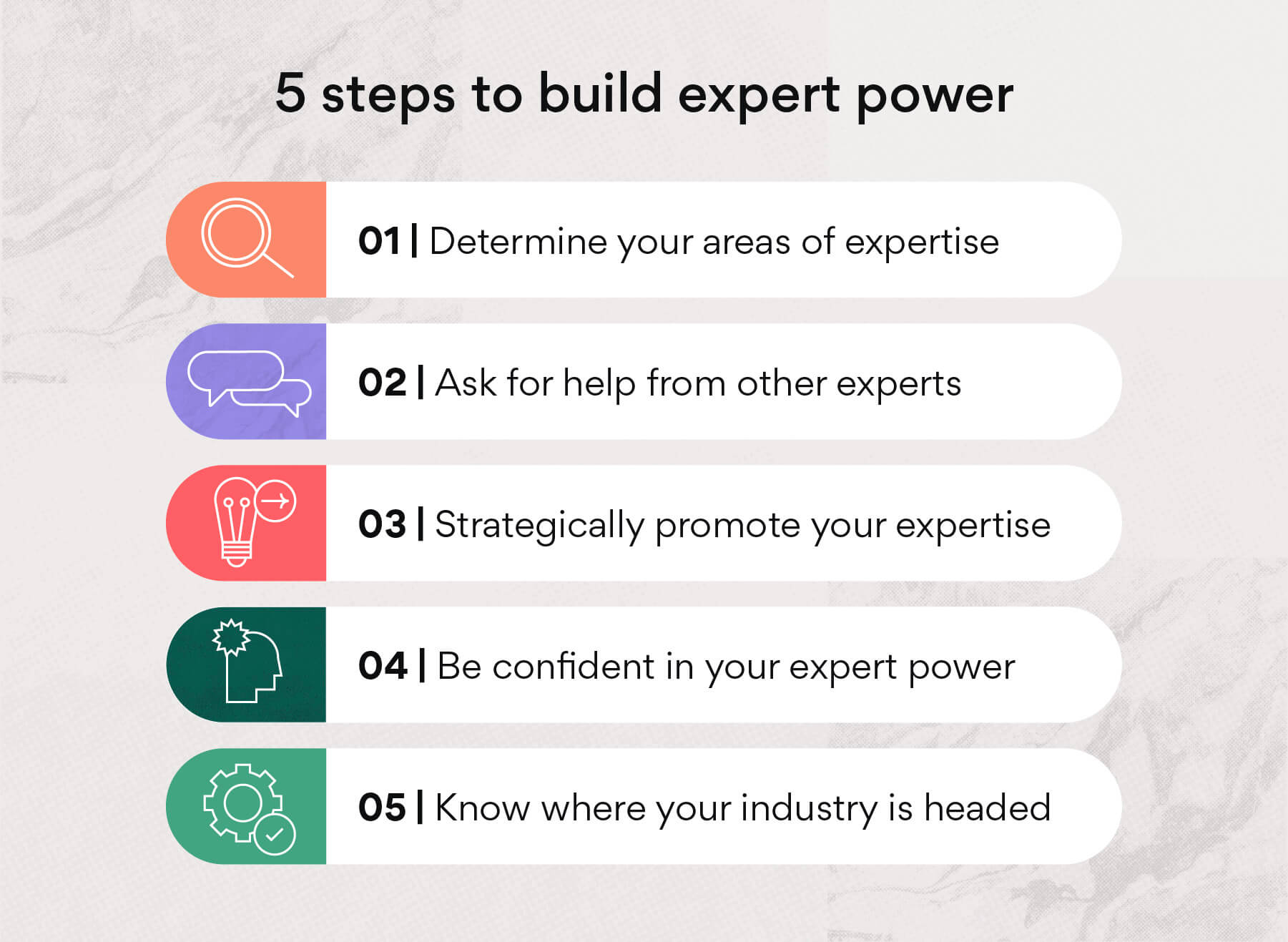 5 steps to build expert power
