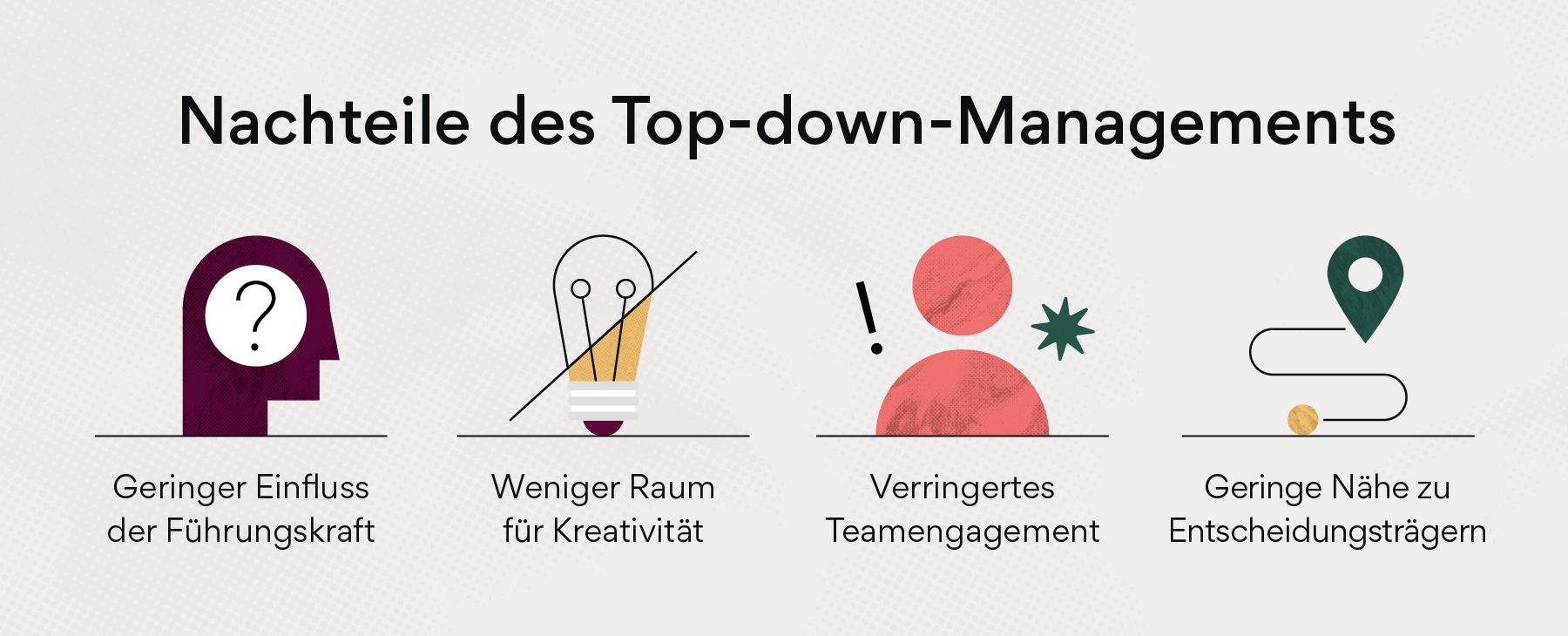 Nachteile des Top-down-Managements