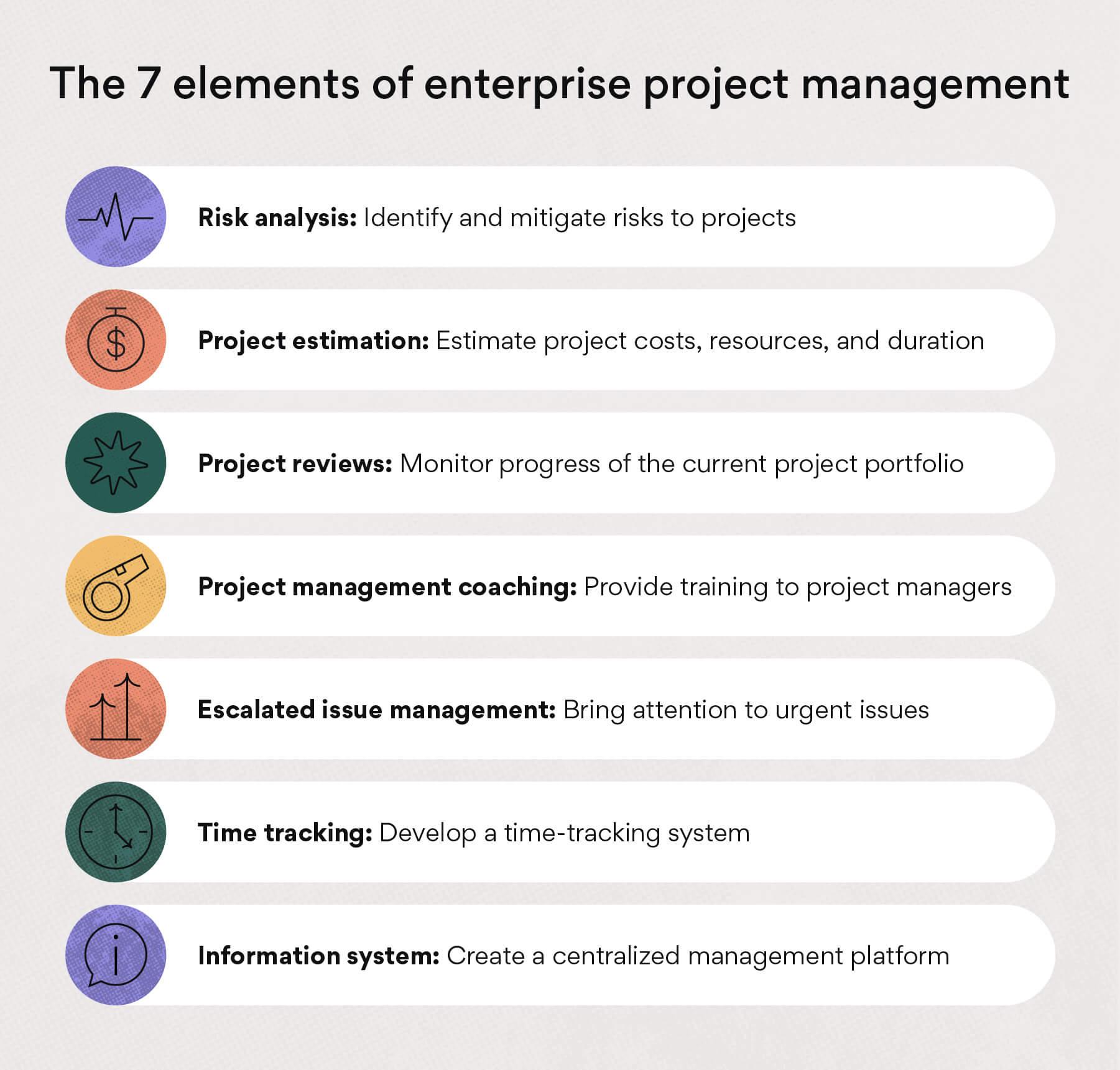 Elements of enterprise project management