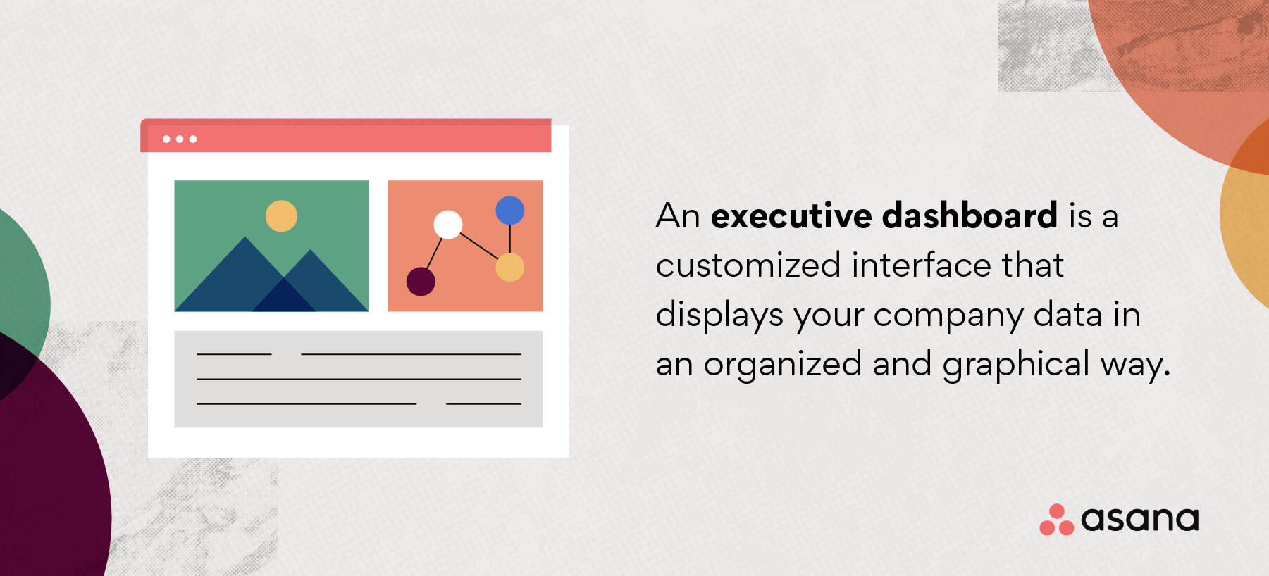 What is an executive dashboard?