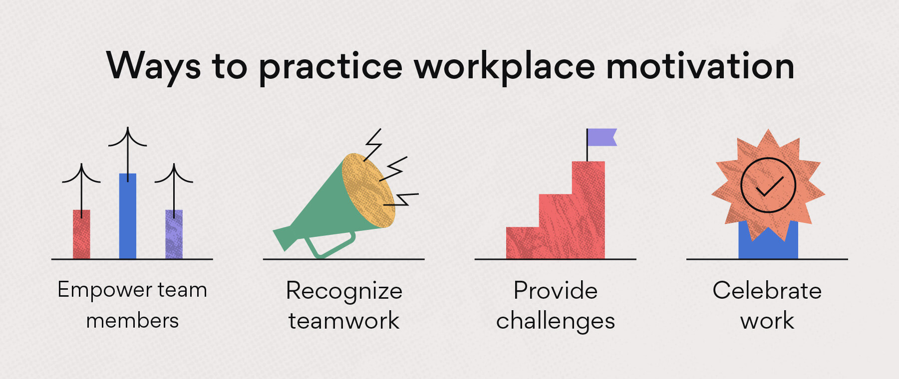 Ways to practice workplace motivation