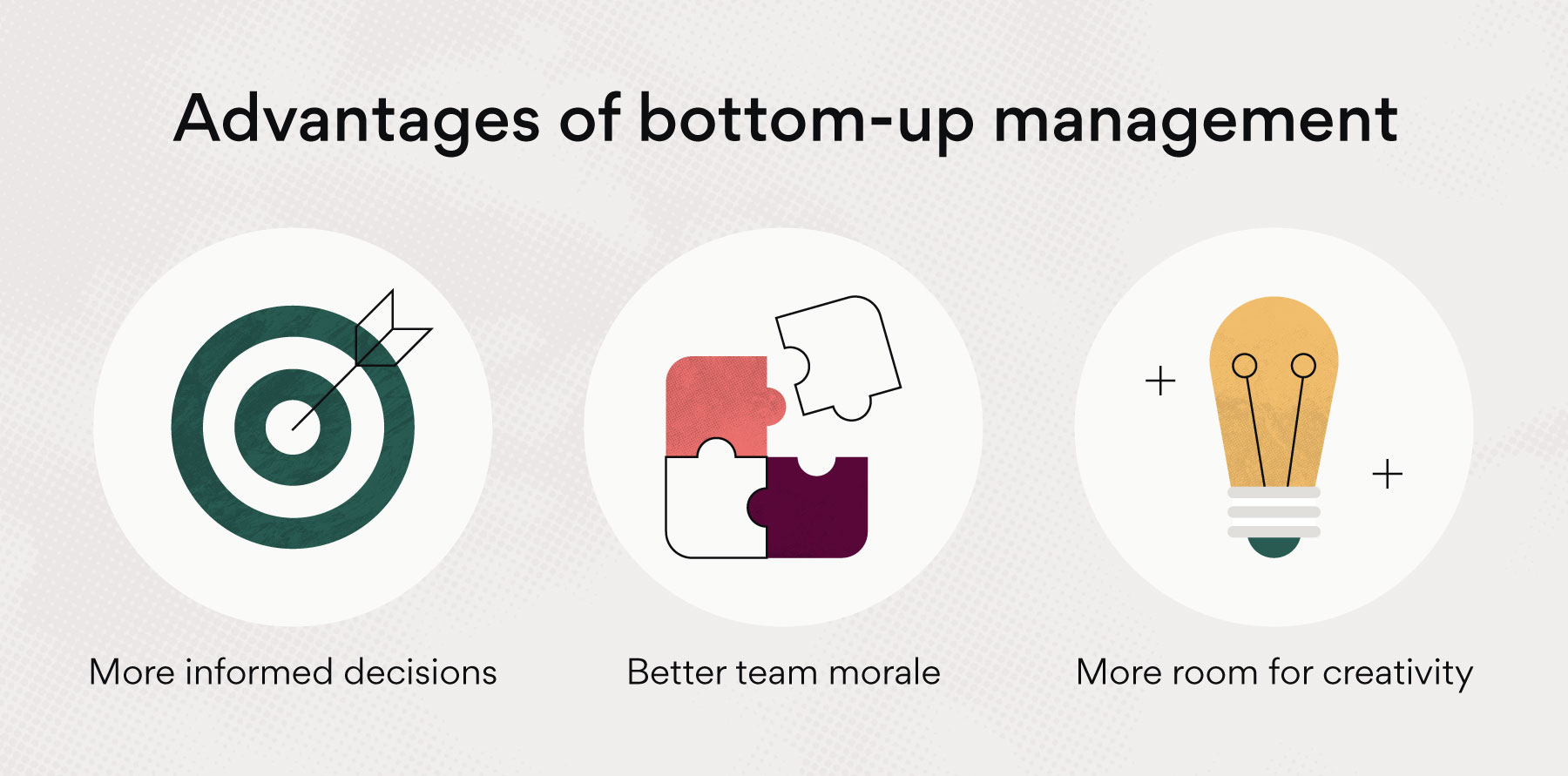 Advantages of bottom-up management