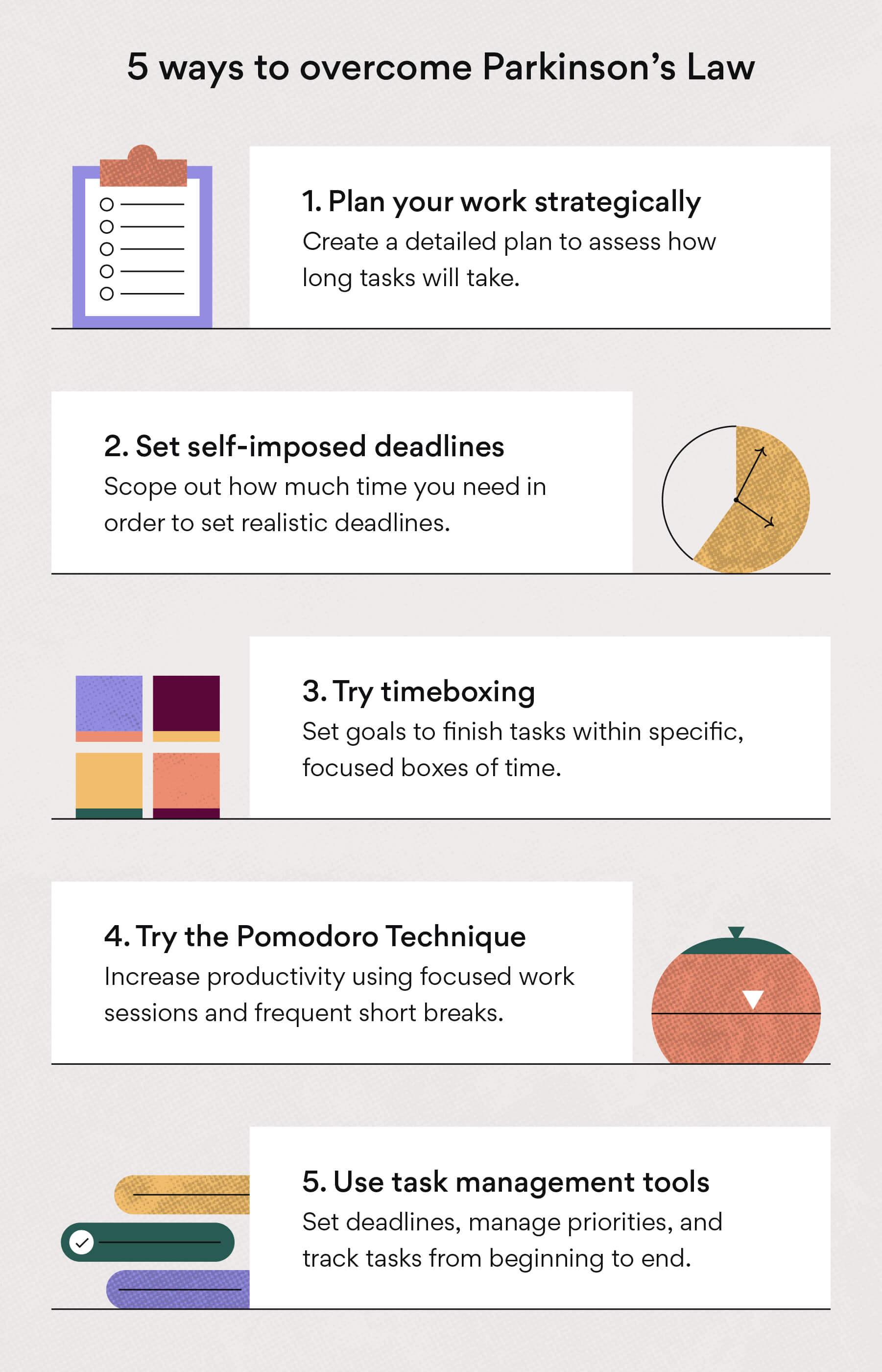 5 formas de combatir la Ley de Parkinson