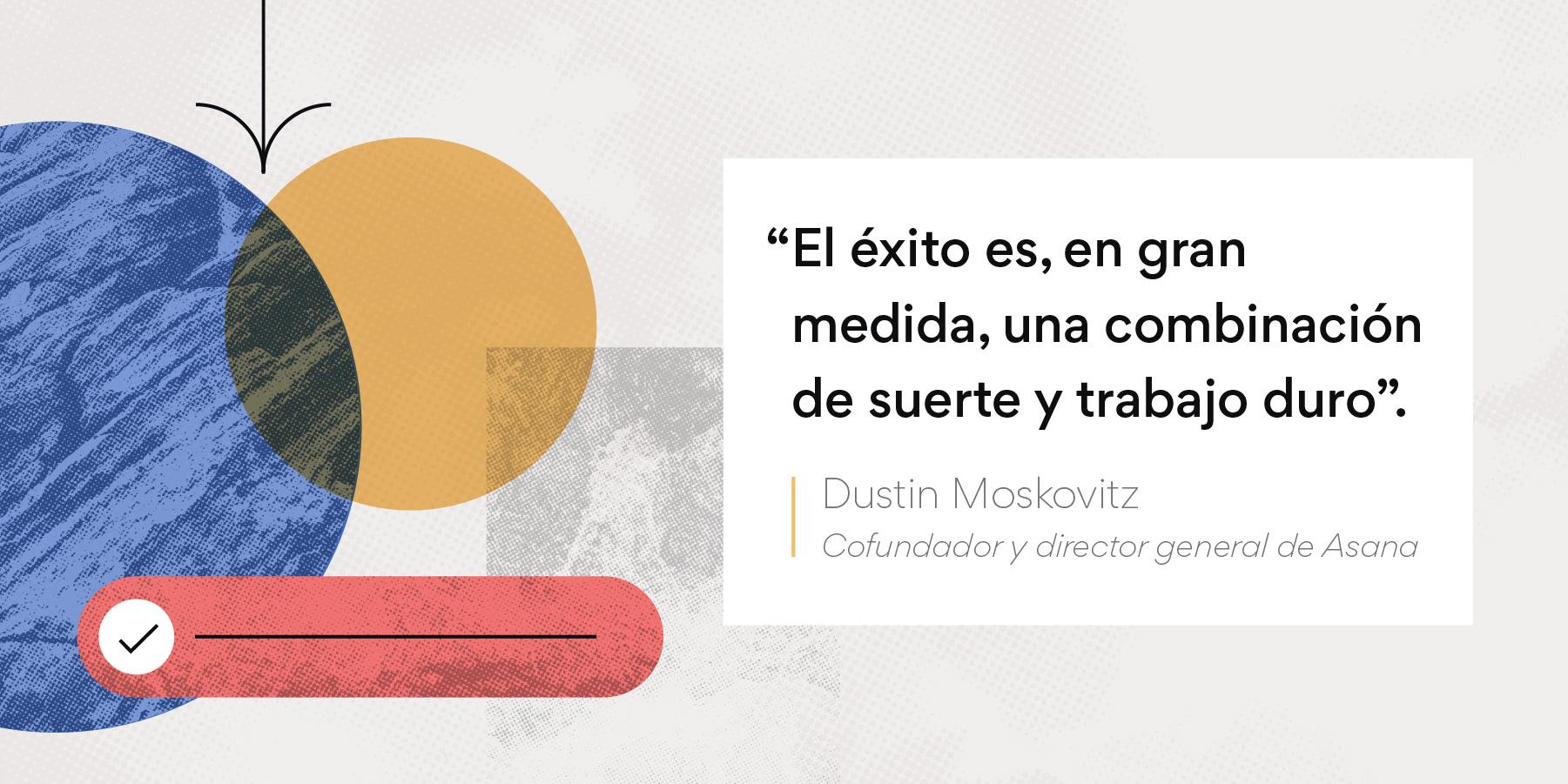 Imagen de cita motivadora de Dustin Moskovitz para los equipos