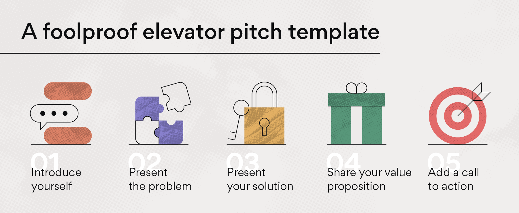 A foolproof elevator pitch template