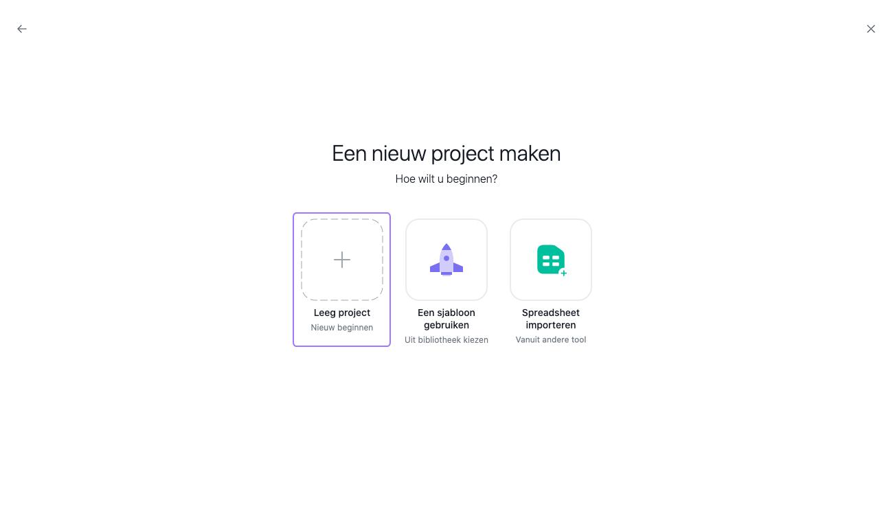 een project maken 2
