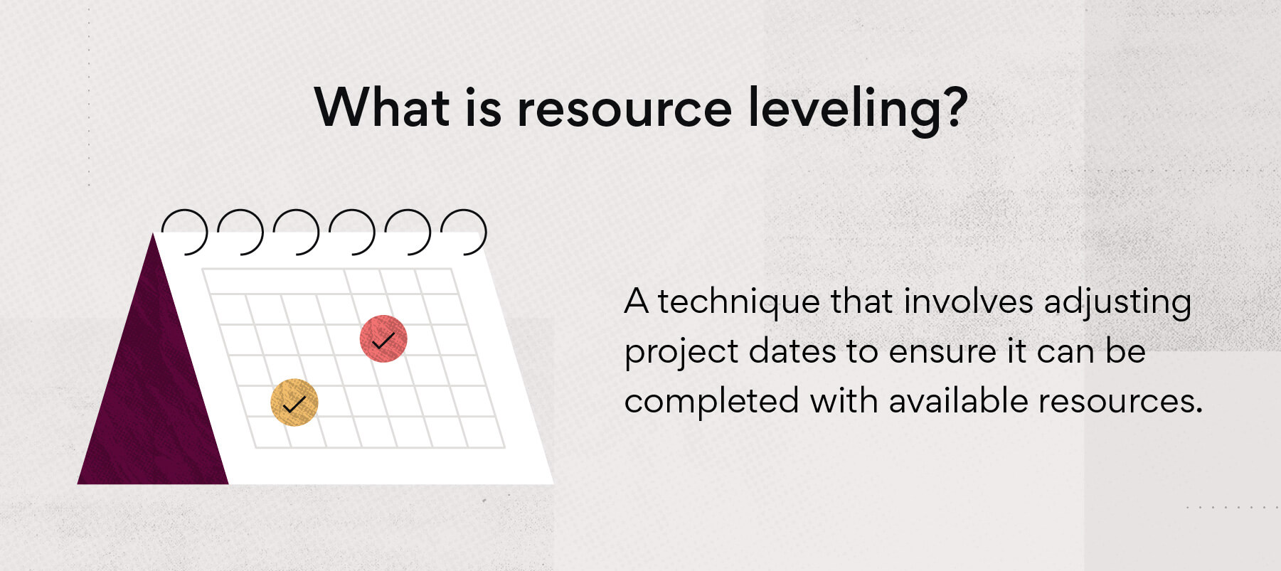 What is resource leveling?