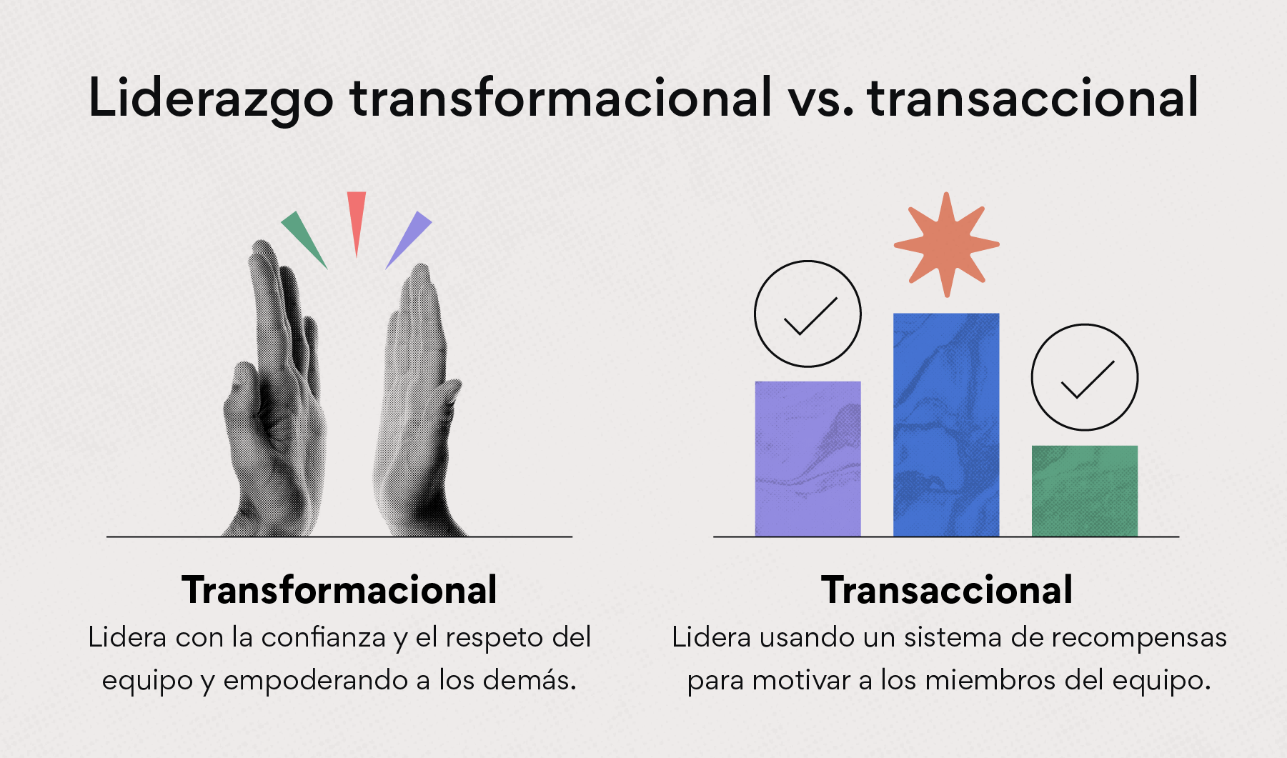 Liderazgo transformacional vs. transaccional
