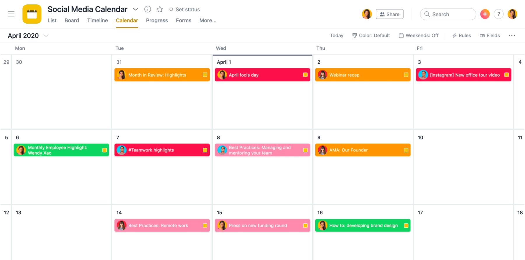 Wizualne zarządzanie projektami – kalendarze projektów